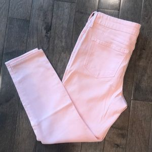 Old navy peach cropped mid rise ankle jeans